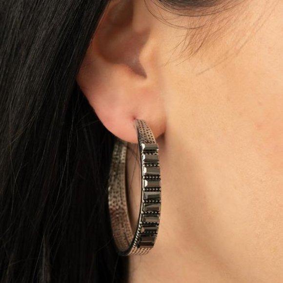 More To Love Hematite Earrings